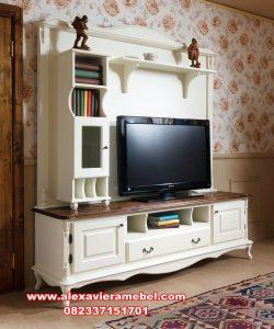 Set bufet tv duco kayu mahoni furniture Jepara Sbt-049