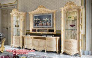 Set bufet tv klasik mewah putih king arthur Sbt-051