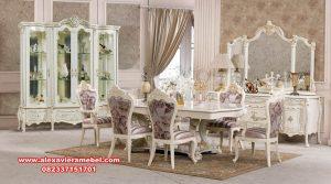 Set meja makan modern mewah dining room naina Skm-066