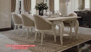 Harga meja kursi makan set modern duco mewah charmy Skm-081