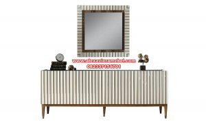 Model meja konsul modern terbaru kayu berkualitas mebel Jepara Mkr-061