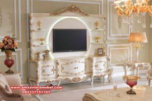 Rak bufet tv lemari hias ukir mewah modern kayu berkualitas Sbt-060