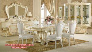 Set kursi makan duco mewah klasik barcelona Skm-077