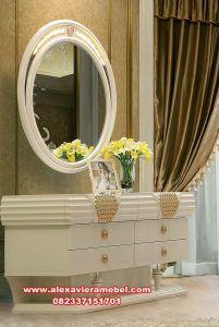 Gambar meja rias putih modern kimora Mkr-065
