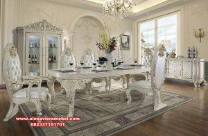 meja makan dining table set klasik modern duco Skm-087
