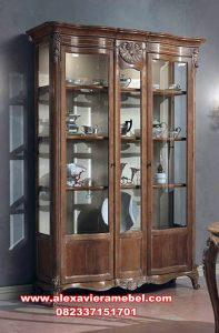 Model lemari hias klasik kayu jati Sbt-074