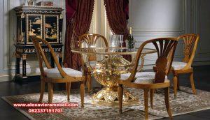 model meja makan mewah luxury bennedict skm-089