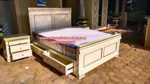 model set tempat tidur modern putih duco zainal Ks-074