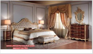 tempat tidur bed room set klasik modern gold luxury ks-071