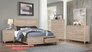 1 set tempat tidur modern duco minimalis anyelir ks-082