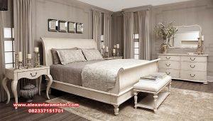 Bed room set white modern vintage ursula Ks-092