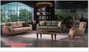 Harga set sofa tamu jati minimalis verona zayn Srt-101