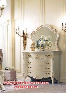Meja rias duco putih modern evelyn Mkr-073