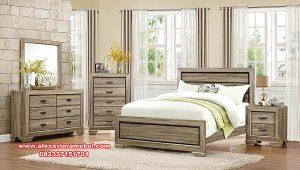 set kamar tidur jati minimalis rustic antique ks-081