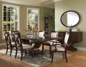 Set meja makan jati Jepara minimalis mewah terbaru Skm-098