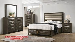 Set tempat tidur jati modern minimalis scandinavian Ks-087