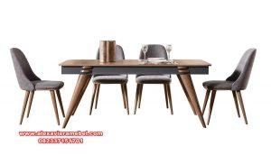 1 set meja makan verion 6 kursi minimalis kayu jati skm-108