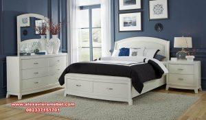 desain set kamar tidur ayaana model minimalis duco putih mewah ks-099