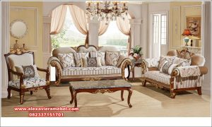 Harga sofa tamu jati mewah haifa Srt-107
