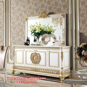 set meja konsul duco modern dining room style mkr-079