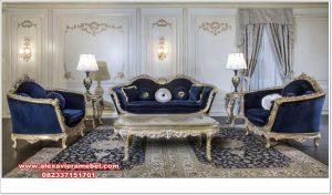 Set sofa tamu ukiran mewah modern turkey style Srt-106