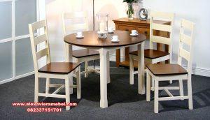 meja kursi makan modern sederhana turin round skm-111