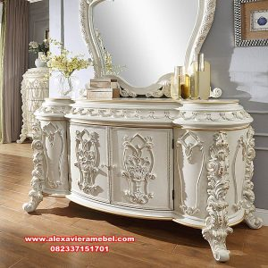 meja rias duco putih hanifa mewah mkr-093