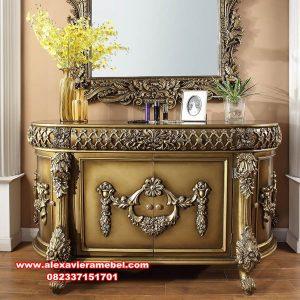 set meja konsul aleena mewah luxury model terbaru mkr-091