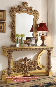 meja konsul mewah gold luxury terbaru mkr-097