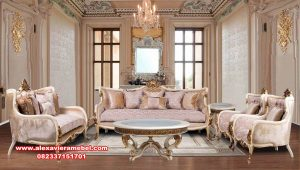 set kursi tamu sofa klasik mewah mahogany wood srt-129