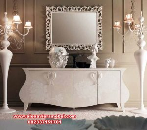 set meja konsul duco putih modern fatimaa queen mkr-095