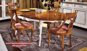 daftar harga set meja makan jati kombinasi duco skm-137