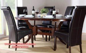 meja makan klasik jati catchy skm-134