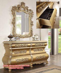 set dresser table zamaica gold mewah luks mkr-099