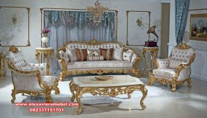 set kursi tamu luxury mewah gold duco finishing terbaik srt-137
