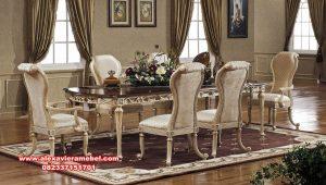 set meja makan klasik mewah glamorous luxury skm-140