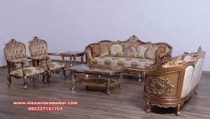 set sofa tamu germain klasik eropa berkualitas terbaik Srt-135