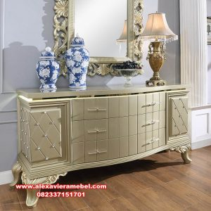 dresser table set ukir klasik duco mkr-112