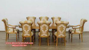 inspirasi dining room set maggiolini luxury gold skm-147