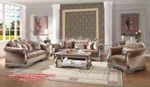 set kursi ruang tamu mewah desain klasik modern srt-149