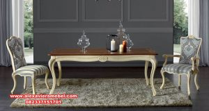 set meja makan modern classic contemporer skm-149