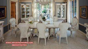 harga set meja makan mewah terbaru elizabeth skm-160