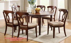 set kursi makan wooden decor skm-159