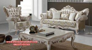 sofa ruang tamu mewah alyana model klasik duco srt-159