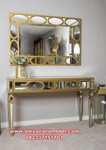 jual meja konsul dan cermin modern mewah mkr-120