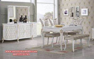 meja makan klasik modern rumaya skm-166
