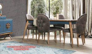 meja makan minimalis apartemen stylish skm-168