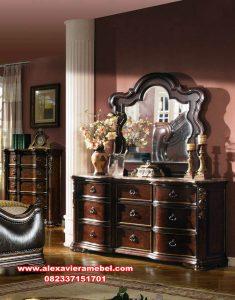 1 set meja rias dan cermin klasik mrk-125