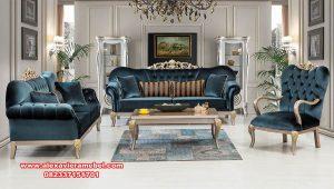 sofa ruang tamu modern klasik gold terbaru srt-168
