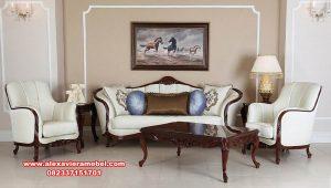 sofa set tamu jati modern klasik mewah srt-165